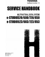TOSHIBA e-STUDIO 520 523 600 623 720 723 850 853 Service Handbook
