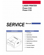 Xerox Phaser 3120 3130 Parts List and Service Manual