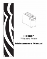 Zebra Label HC100 Maintenance Service Manual