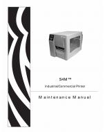 Zebra Label S4M Maintenance Service Manual