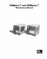 Zebra Label Z4Mplus Z6Mplus Maintenance Service Manual