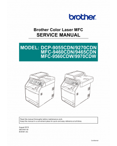 Brother Laser-MFC 9460 9465 9560 9970 CDN DCP9055 9270 CDN Service Manual