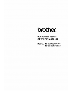 Brother MFC 6800 9160 9180 DCP1000 Service Manual