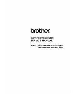 Brother MFC 9700 9760 9860 9800 9880 DCP1400 Parts Reference