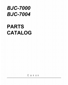 Canon BubbleJet BJC-7000 Parts Catalog Manual