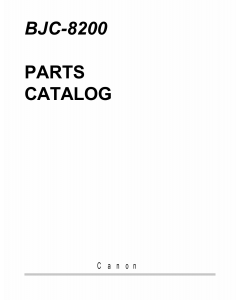 Canon BubbleJet BJC-8200 Parts Catalog Manual