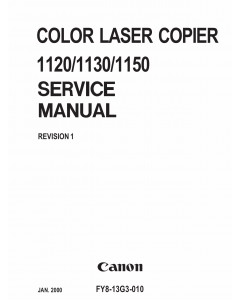 Canon ColorLaserCopier CLC-1120 1130 1150 Parts and Service Manual