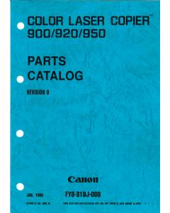 Canon ColorLaserCopier CLC-900 920 950 Parts Catalog Manual