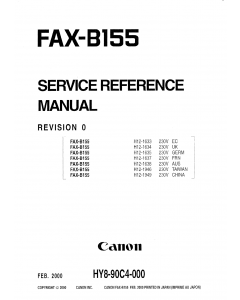 Canon FAX B155 Service Manual