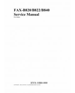 Canon FAX B820 B822 B840 Service Manual