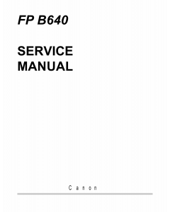 Canon FAX FP-B640 Parts and Service Manual