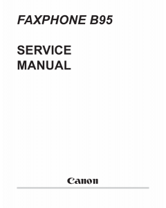 Canon FAX FP-B95 Parts and Service Manual