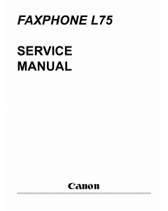 Canon FAX FP-L75 Parts and Service Manual