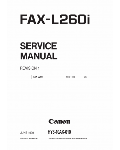 Canon FAX L260i Parts and Service Manual