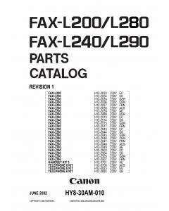Canon FAX L280 Parts Catalog Manual