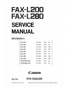 Canon FAX L280 Service Manual