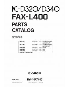 Canon FAX L400 Parts Catalog Manual