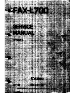 Canon FAX L700 Parts and Service Manual