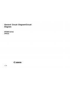 Canon ImagePROGRAF iPF610 Circuit Diagram