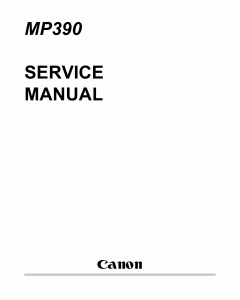 Canon MultiPASS MP-360 MP370 MP390 Service Manual