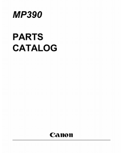 Canon MultiPASS MP-390 Parts Catalog Manual