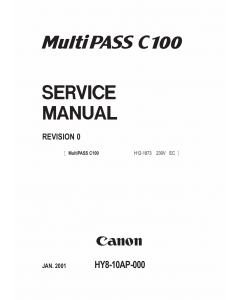 Canon MultiPASS MP-C100 Parts and Service Manual