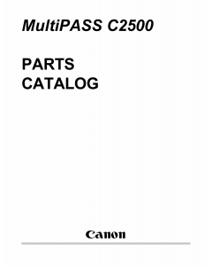 Canon MultiPASS MP-C2500 Parts Catalog Manual