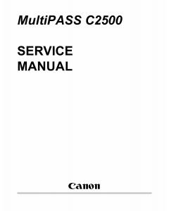 Canon MultiPASS MP-C2500 Service Manual