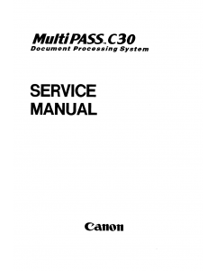 Canon MultiPASS MP-C30 Service Manual