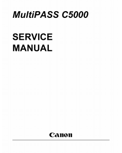 Canon MultiPASS MP-C5000 Service Manual