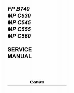 Canon MultiPASS MP-C530 C545 C555 C560 FB-P740 Service Manual
