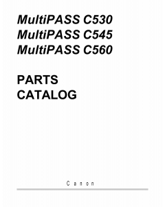 Canon MultiPASS MP-C530 C545 C560 Parts Catalog Manual