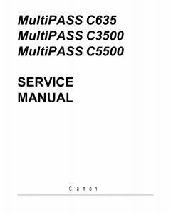 Canon MultiPASS MP-C635 C3500 C5500 Service Manual
