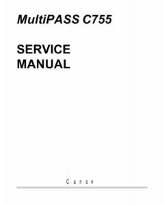 Canon MultiPASS MP-C755 Service Manual