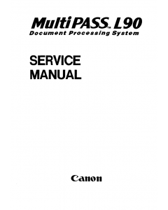 Canon MultiPASS MP-L90 Service Manual