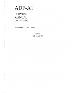 Canon Options ADF-A1 Parts and Service Manual