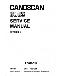 Canon Options CS-300S CanoScan 300S Parts and Service Manual