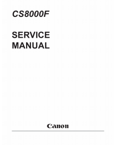 Canon Options CS-8000F Document-Scanner Parts and Service Manual