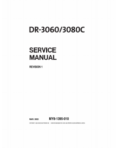 Canon Options DR-3060 3080C Document-Scanner Service Manual