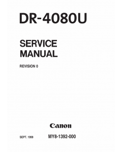 Canon Options DR-4080U 4085U Parts and Service Manual