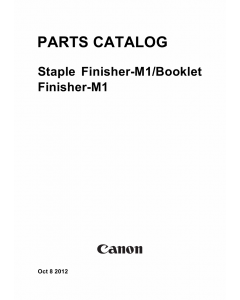 Canon Options Finisher-M1 Staple Booklet Finisher Parts Catalog Manual