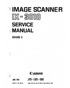 Canon Options IX-3010 Parts and Service Manual