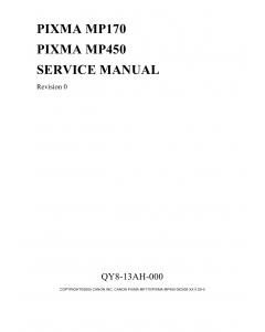Canon PIXMA MP170 MP450 Service Manual