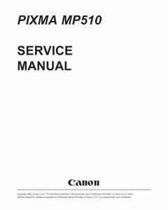 Canon PIXMA MP510 Service Manual