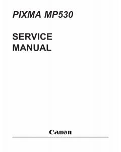 Canon PIXMA MP530 Parts and Service Manual