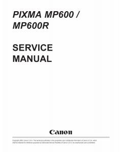 Canon PIXMA MP600 MP600R Service Manual