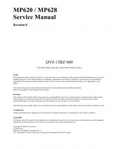 Canon PIXMA MP620 MP628 Service Manual