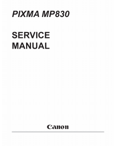 Canon PIXMA MP830 Parts and Service Manual