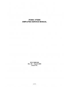 Canon PIXMA iP3600 iP3680 Simplified Service Manual