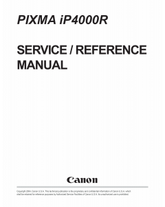 Canon PIXMA iP4000R Service Manual